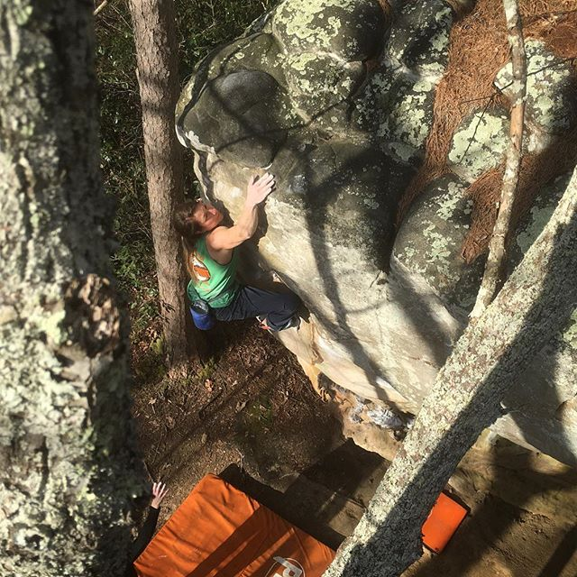 Beautiful spring day, vacation climbing with visiting friends!  #highpointclimbingschool