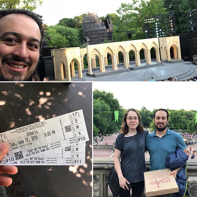Shakespeare in the Park was downright terrific!!! So happy that I waited in line from 6:30am for tickets. Thank you to Isabelle for joining me at the performance! Since I did my Shakespeare class at Sloan, I've been enthralled with Shakespeare; so happy I was able to do this. Just an overall amazing day in NYC! And terrific weekend with my cousin Ian and his wife Naomi #nyc #shakespeare #shakespeareinthepark