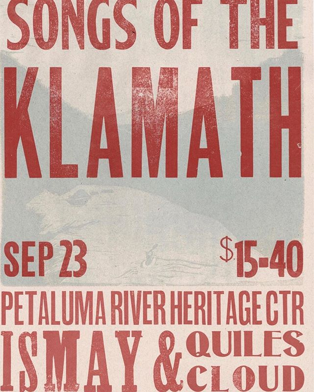 Our short doc project we've been working on all summer with @ismaymusic premieres this Saturday in Petaluma. In addition to the film screening, Ismay is performing, along with @quilesandcloud . It will be a really special night, so please join. Ticket info at songsoftheklamath.com
