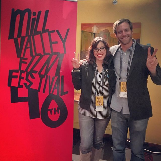 Incredible night of films last night at @millvalleyfilmfest with @breadandroses_ca! Here's co-producers of our film, Francesca & Dan, working the red carpet. Thank you Bread & Roses for beautiful collaboration on this!