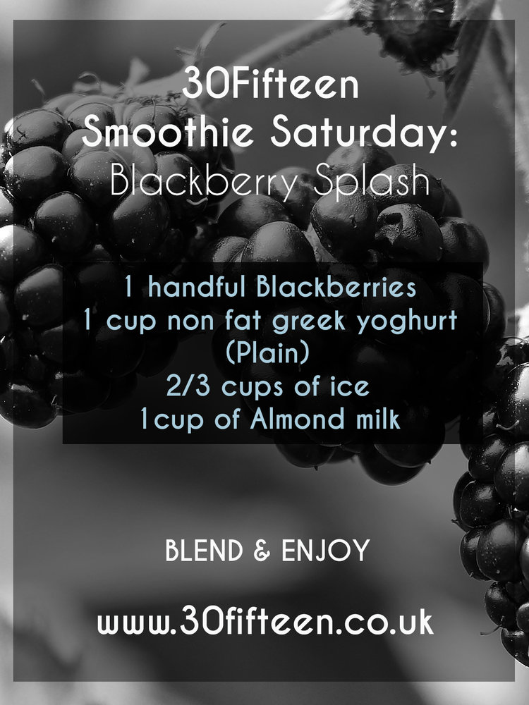 Blackberry smoothie recipe from 30Fifteen