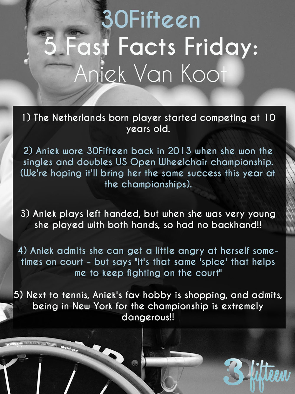 Aniek Van Koot US Open 30Fifteen