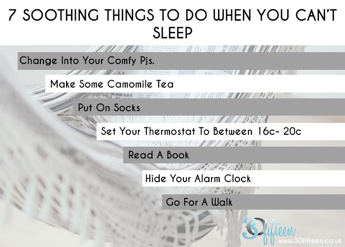 7 Soothing Things To Do When You Can't Sleep