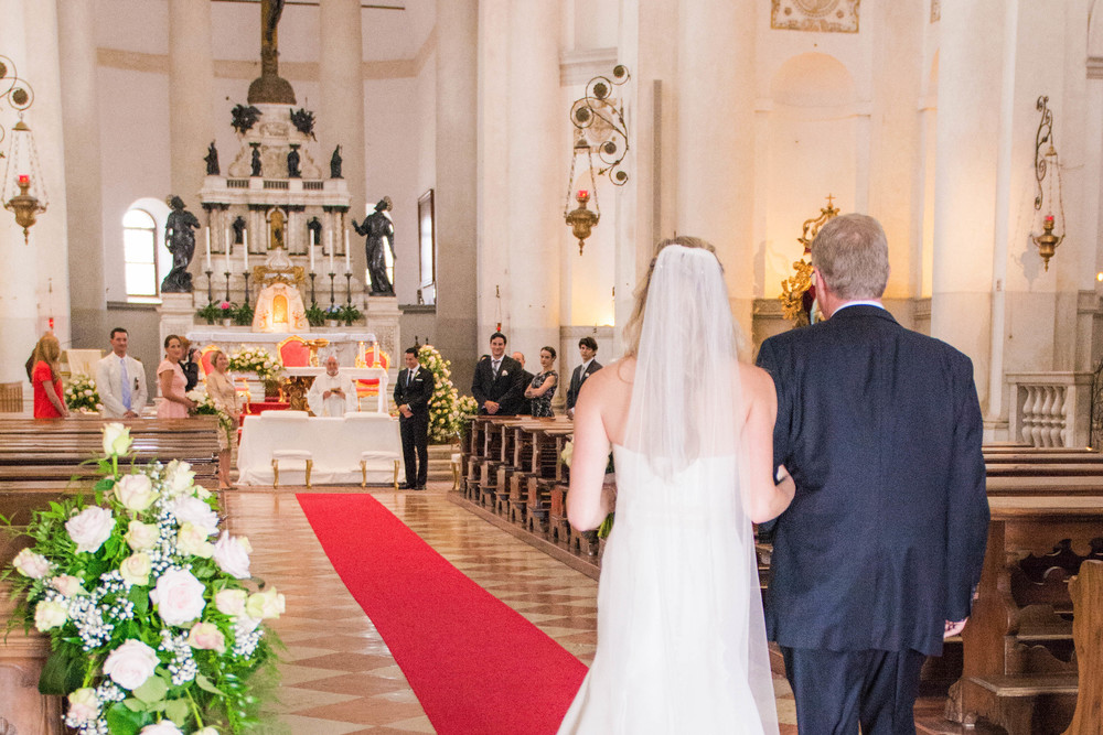 Venice Italy Wedding Ceremony Redentore Chapel