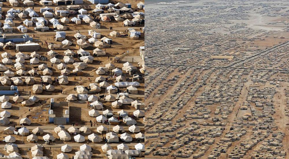 Typical tent landscape at Zaatari Camp