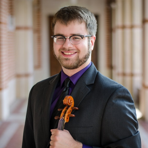 Jacob Schafer, violin    Jacob performs widely as a soloist, chamber musician, and orchestral player. A Da Camera of Houston Young Artist for the 2017–2018 season, he also frequently plays with other groups around the city, including Rice's student-run contemporary ensemble Hear & Now. In the summer of 2018 he will be a New Fromm Player at the Tanglewood Music Center. Dedicated to education, Jacob teaches violin at the Campbell Learning Center in Houston and tutors music theory privately. Originally from Nashville, Tennessee, he graduated from Yale University in 2015 with a Bachelor of Arts in Music and in Ethics, Politics, and Economics, and is now pursuing a Master of Music at Rice University, where he studies with Paul Kantor.  Photography by Ben Doyle.