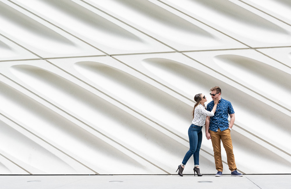 Monica Linda Photography Engagement Session at Disney Hall Los Angeles, CA