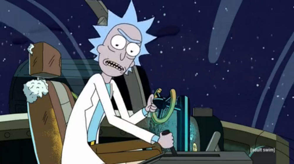 If that lever does that, how do you go in reverse? Huh, Rick!?