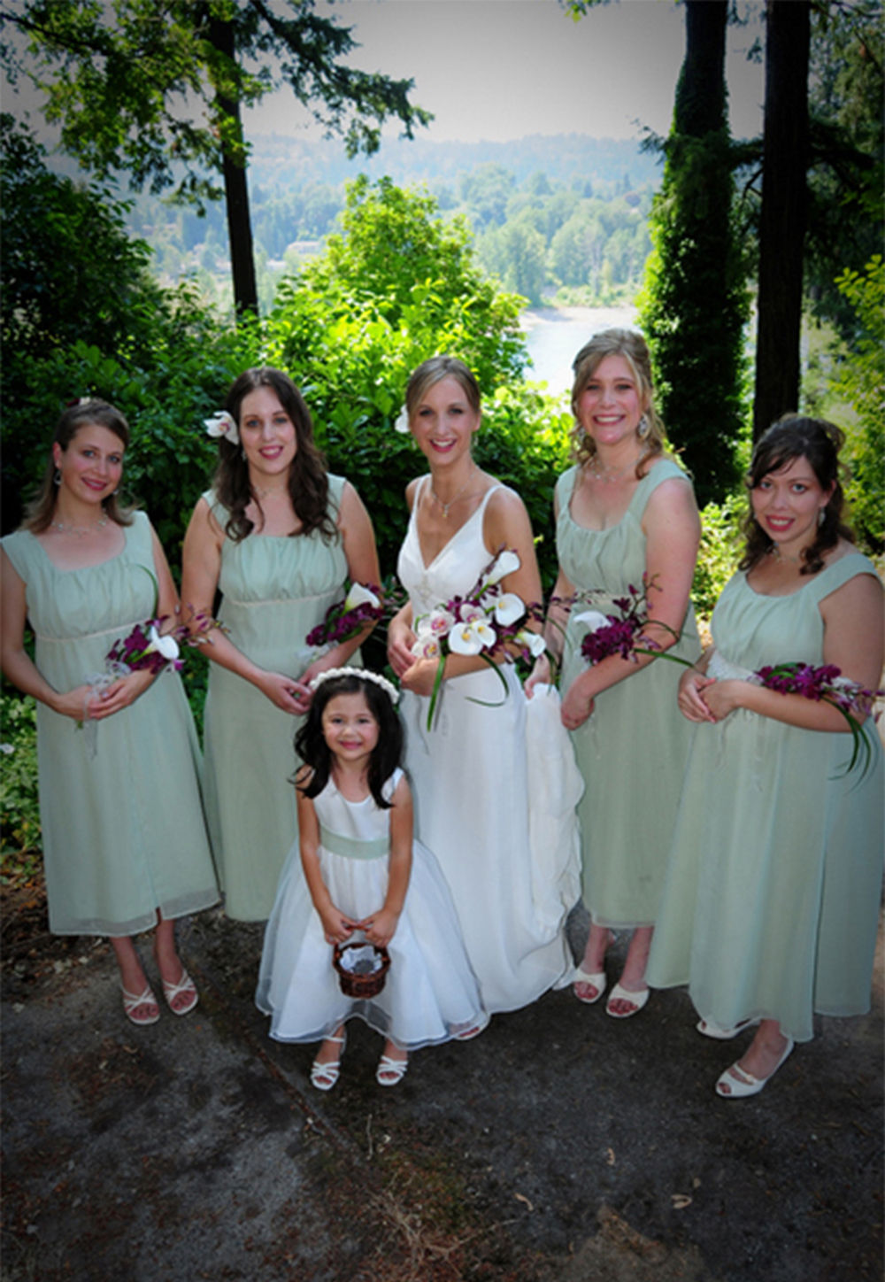 Bridal stitched bridal party bridesmaid dresses created from a pattern make a perfect fit for all body ombrellifo Choice Image