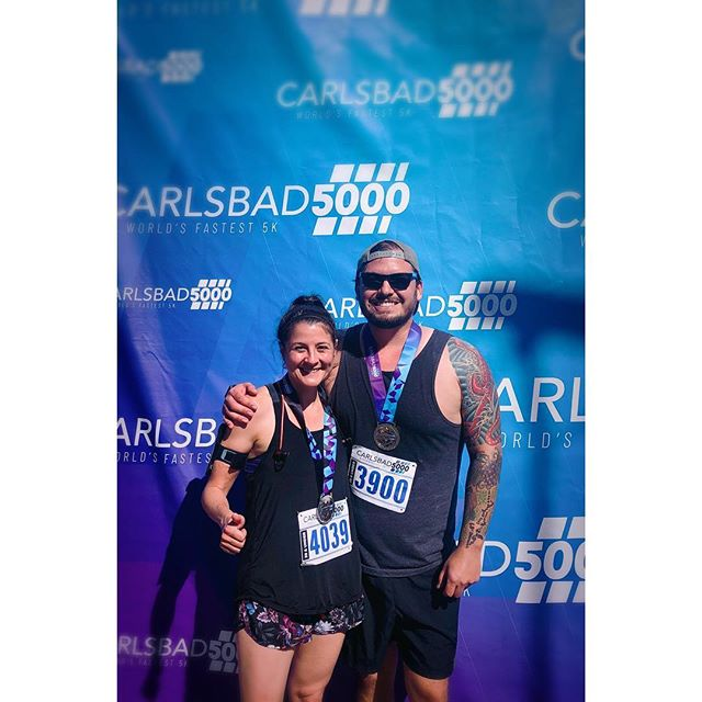 "Ran my second ever #5k yesterday!  Started out the day filled with nerves and #selfdoubt as I walked around #Carlsbad feeling more ""nervous about"" than ""excited for"" the impending 30 minutes of self inflicted pain to come. I accomplished my modest goals of sub-10 minute miles, not passing out, or puking, so I'd call the day a WIN 💪🏼😎🏃🏻‍♂️#carlsbad5000 #sandiego #run #earnyourbeer"