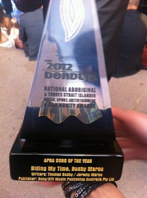 DEADLY - 2012 APRA Song of the Year