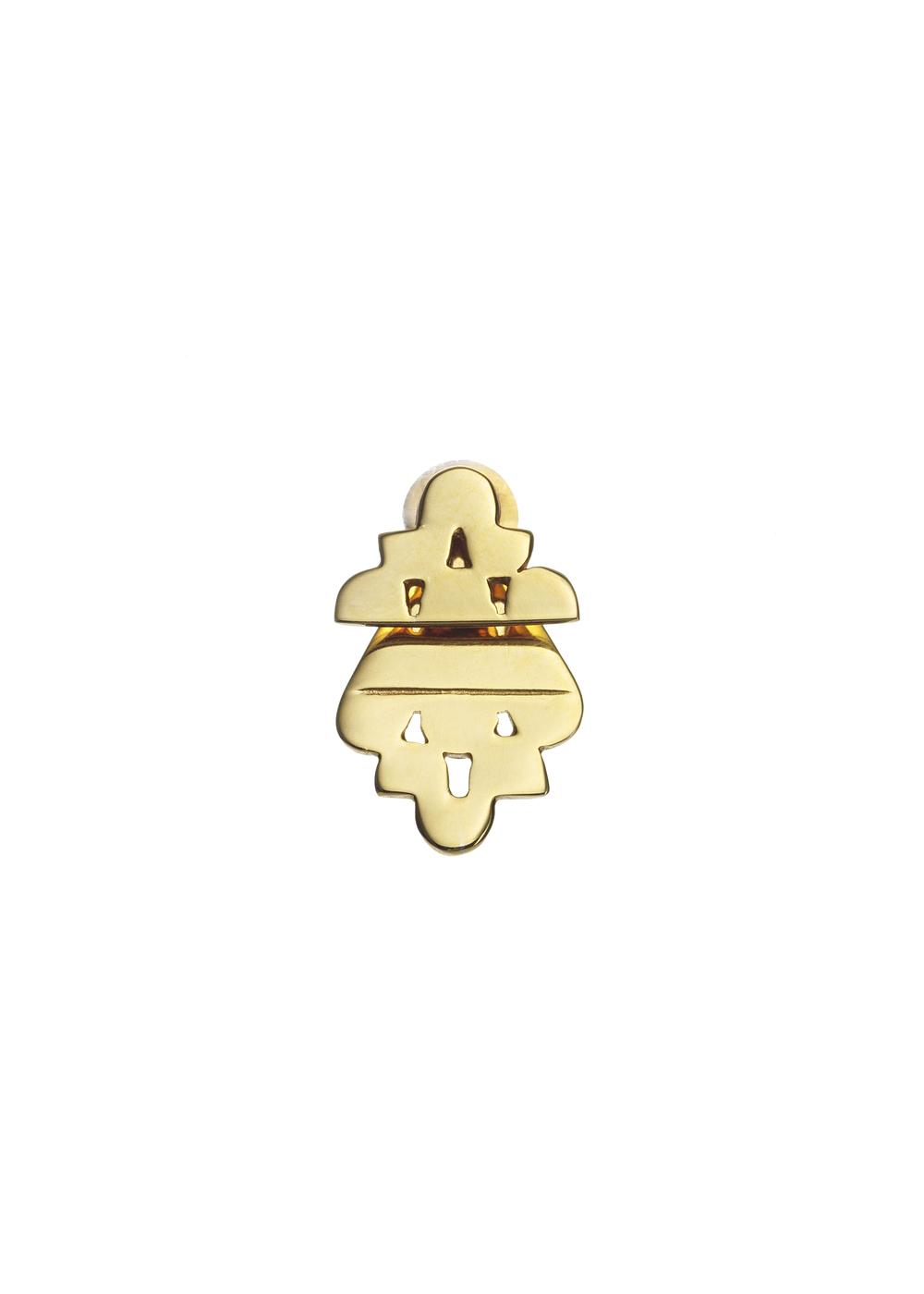 Pyramid Stud Gold