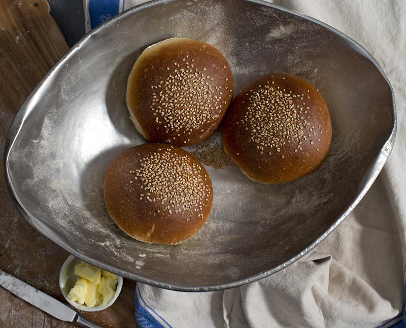 Copy of Challah burger bun 55p
