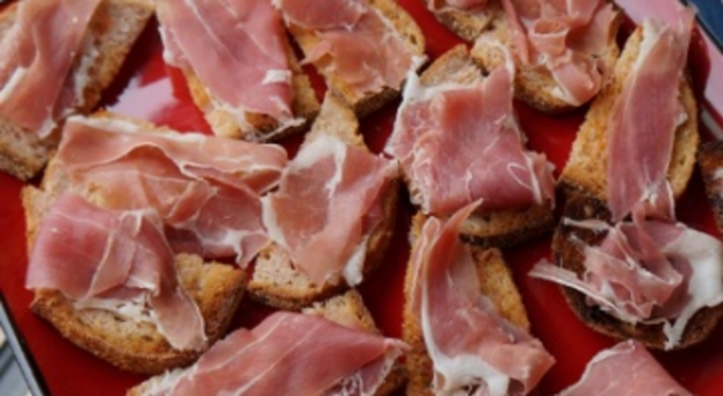 "Normal   0           false   false   false     EN-US   X-NONE   X-NONE                                                                               Pan Tumaca:  Toasted Bread with Olive Oil, Garlic, Salt, and Tomato Juice Topped with Spanish Serrano Ham                                                                                                                                                                                                                                                                                            /* Style Definitions */  table.MsoNormalTable 	{mso-style-name:""Table Normal""; 	mso-tstyle-rowband-size:0; 	mso-tstyle-colband-size:0; 	mso-style-noshow:yes; 	mso-style-priority:99; 	mso-style-qformat:yes; 	mso-style-parent:""""; 	mso-padding-alt:0in 5.4pt 0in 5.4pt; 	mso-para-margin-top:0in; 	mso-para-margin-right:0in; 	mso-para-margin-bottom:10.0pt; 	mso-para-margin-left:0in; 	line-height:115%; 	mso-pagination:widow-orphan; 	font-size:11.0pt; 	font-family:""Calibri"",""sans-serif""; 	mso-ascii-font-family:Calibri; 	mso-ascii-theme-font:minor-latin; 	mso-hansi-font-family:Calibri; 	mso-hansi-theme-font:minor-latin;}"