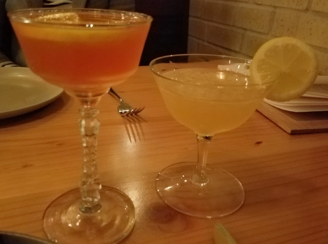 Left:  El Cuñado (menu item)  Right:  Vieux Martinique (special feature as of February 2017)