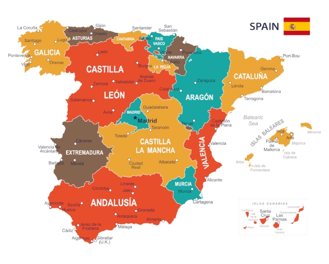 """""""  País  Vasco"""" (in Castilian Spanish), located in the northern part of Spain, is called the """"Basque region"""" in English."""