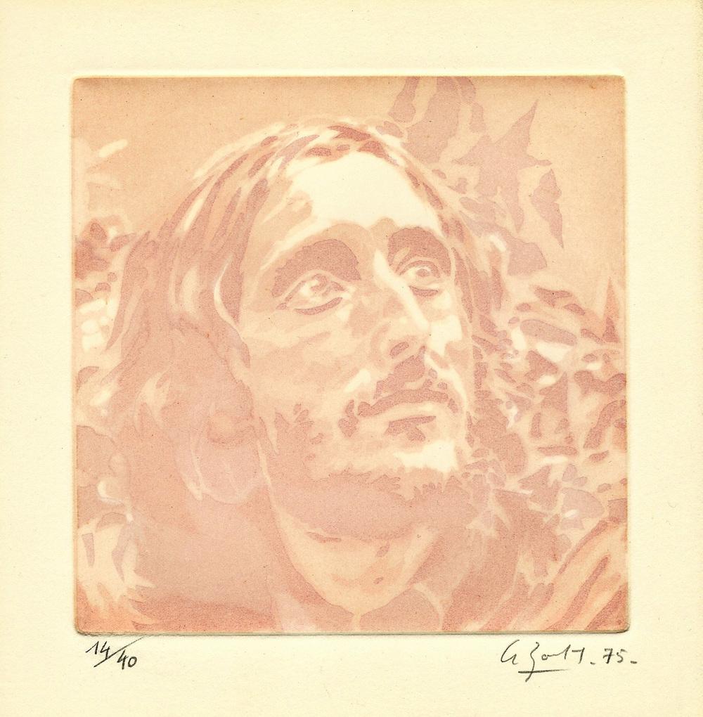 Eau-forte de Jean-Pierre Le Boul'ch, pour  Hébuternes  (1975)