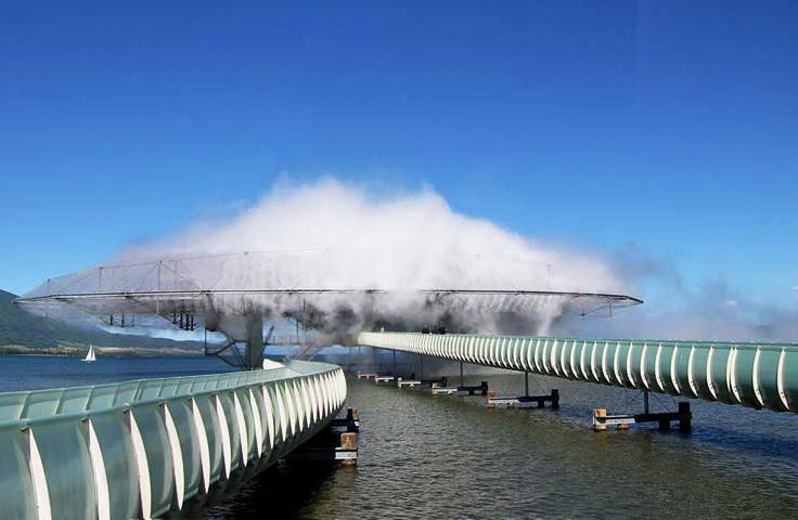 Le nuage «Blur» signé Diller et Scofidio, photographié en 2002. / Crédits: Diller et Scofidio