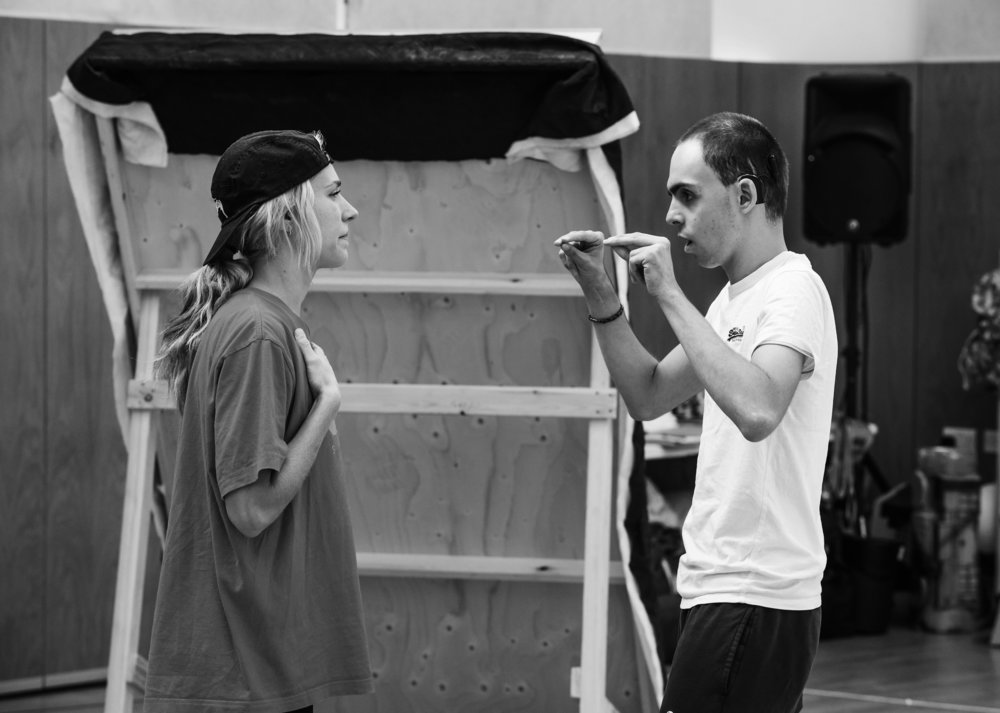 Maddy Hill (Imogen) and William Grint (Arviragus)    Image ©Tristram Kenton