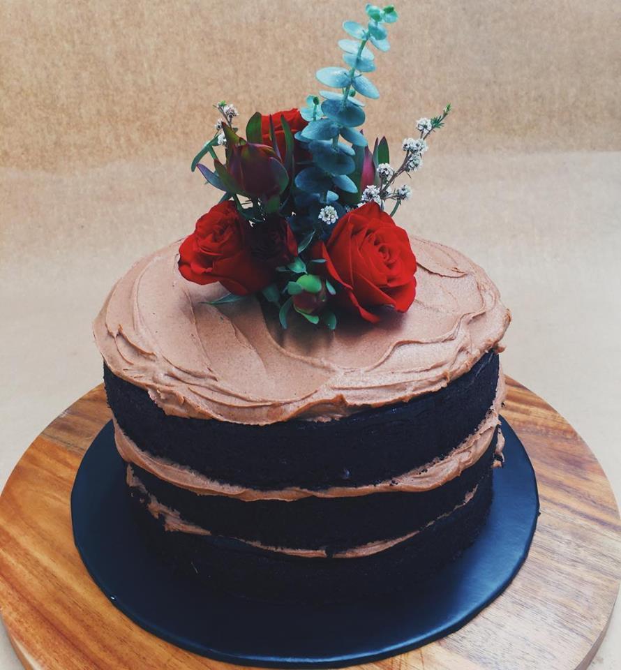 BAKED BIRTHDAY CAKE   Dairy free, gluten free, refined sugar free    Rich chocolate cake