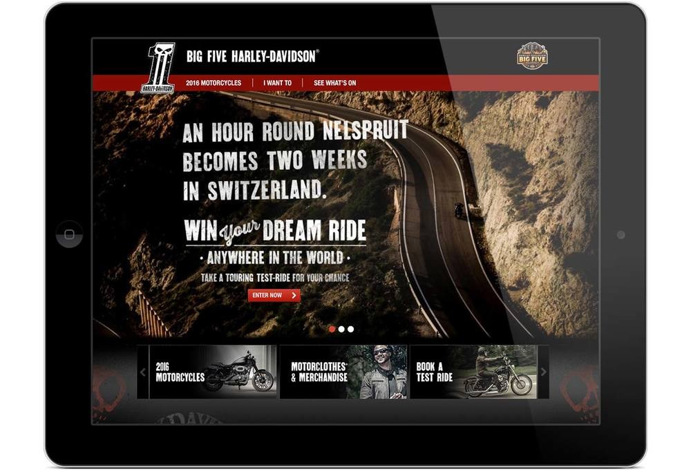 Big Five Harley-Davidson® website