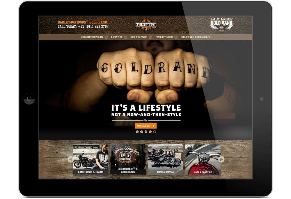 Gold Rand Harley-Davidson® website