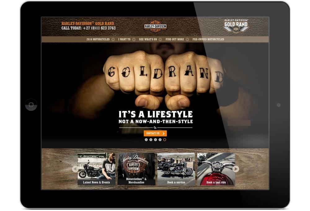 Gold Rand Harley-Davidson® website