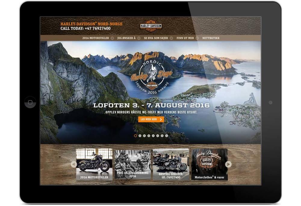 Nord-Norge Harley-Davidson® website