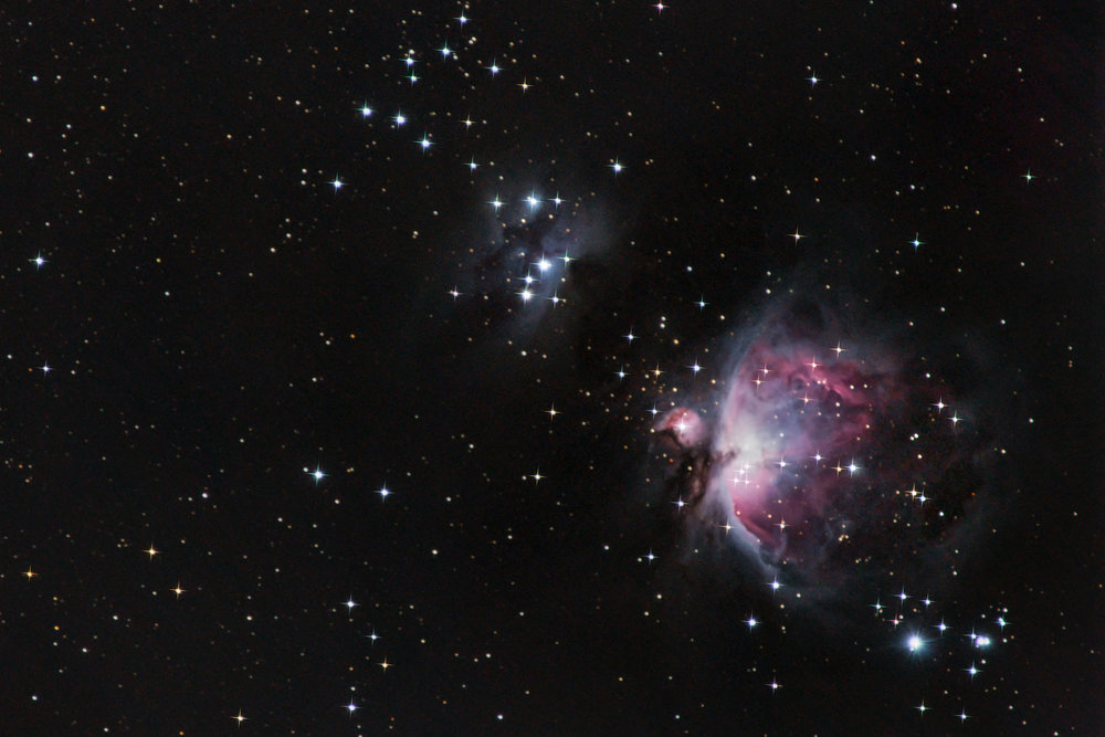 Orion's Nebula and the Running Man Nebula
