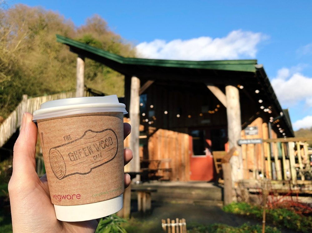 We use ALL compostable cups, straws, lids etc (Say no to plastic!)