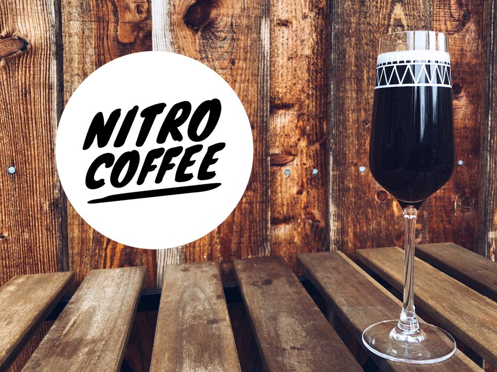THIS IS NITRO COFEE  It's a chilled cold brew coffee, lovingly brewed by Hundred House Coffee (Shropshire) before being infused with nitrogen gas and poured on tap here at The Lodge. It's flavoursome, sweet and creamy. N.B. It's served in a small-ish tall glass to retain it's beautiful foamy head. Be warned -it's quite strong and high in caffeine! Sip it slowly and enjoy it tickling your taste buds.