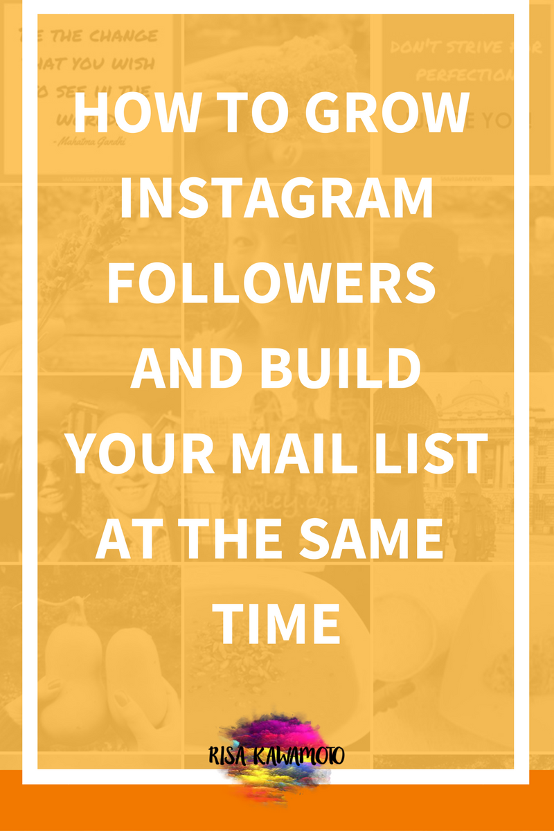 Business tips - How to grow Instagram followers and build your mail list at the same time