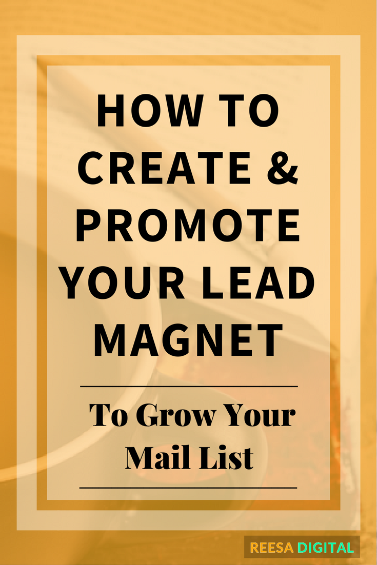 Business tips - How to create and promote your lead magnet to grow your mail list