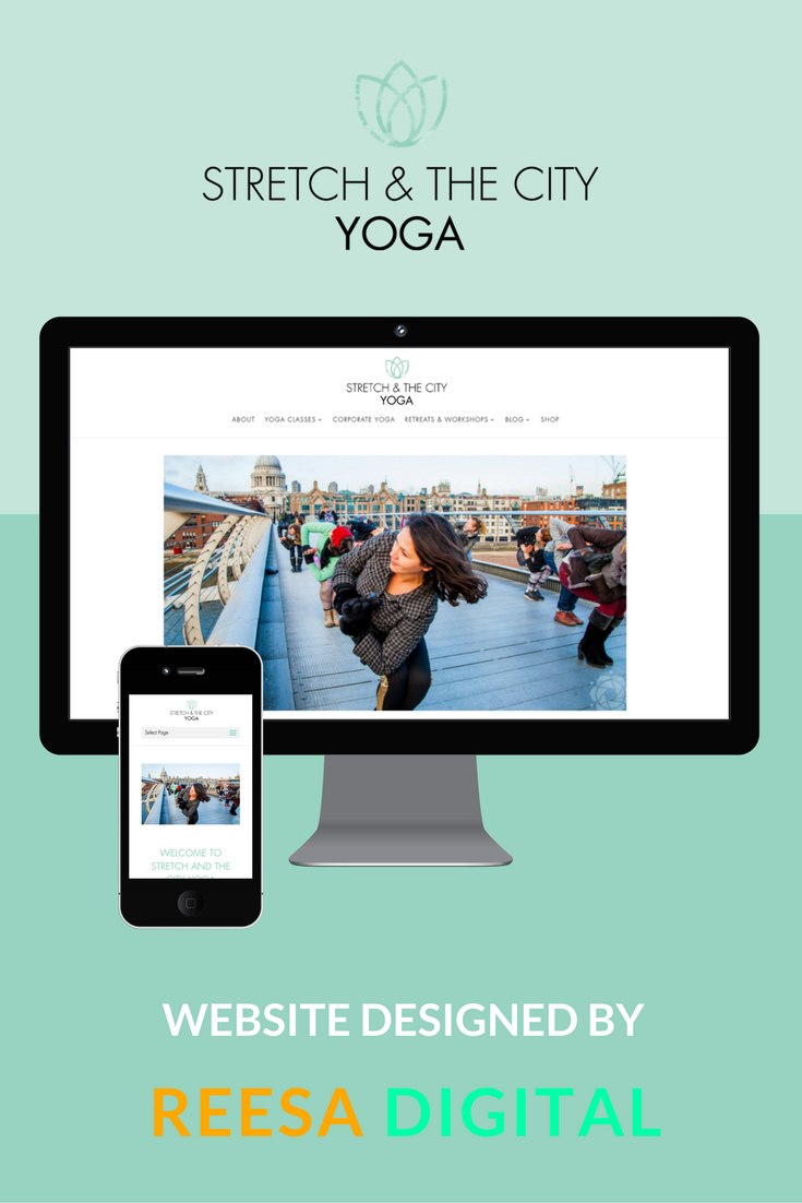 Website Design Portfolio: Stretch and the City Yoga by Jasmine Pradhan