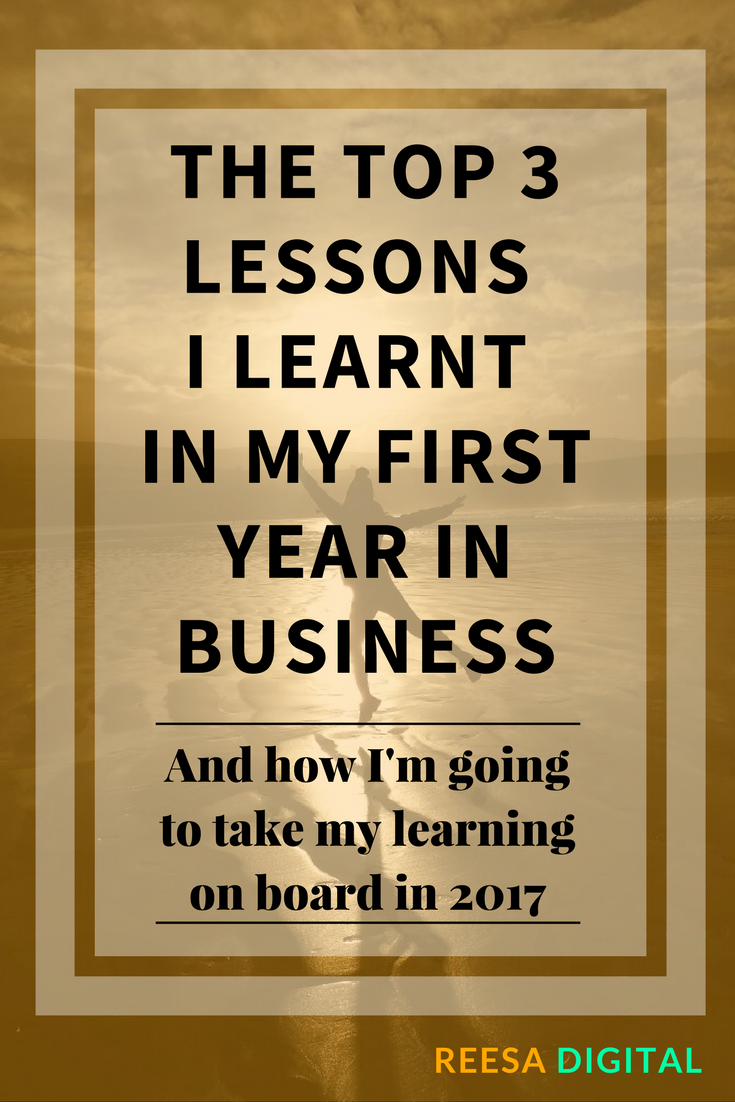 Business tips: The top 3 lessons I learnt in my first year in business