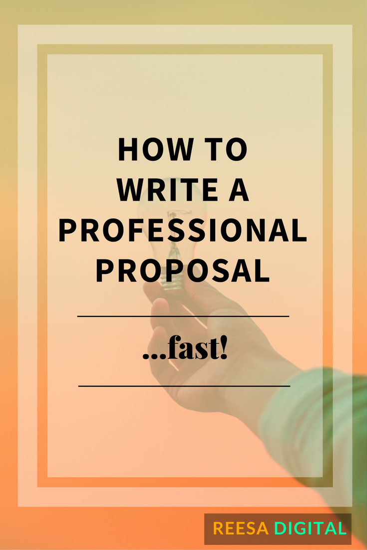 Online Marketing Tips: How to Write a Professional Proposal... Fast!