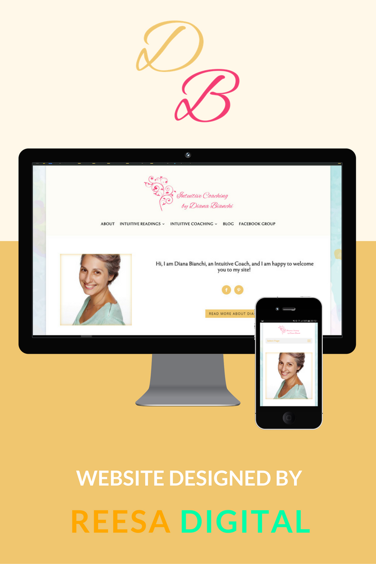 Website Design Portfolio: Intuitive Coach Online by Diana Bianchi