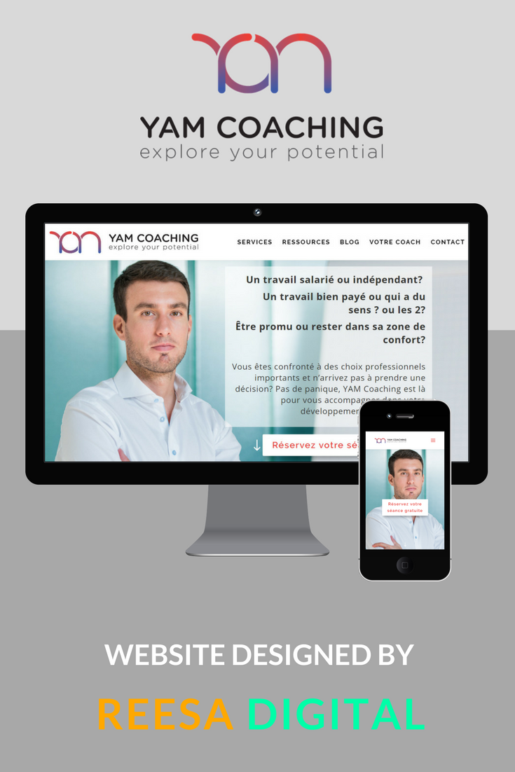 Website Design Portfolio: YAM Coaching  by Yannick Morand