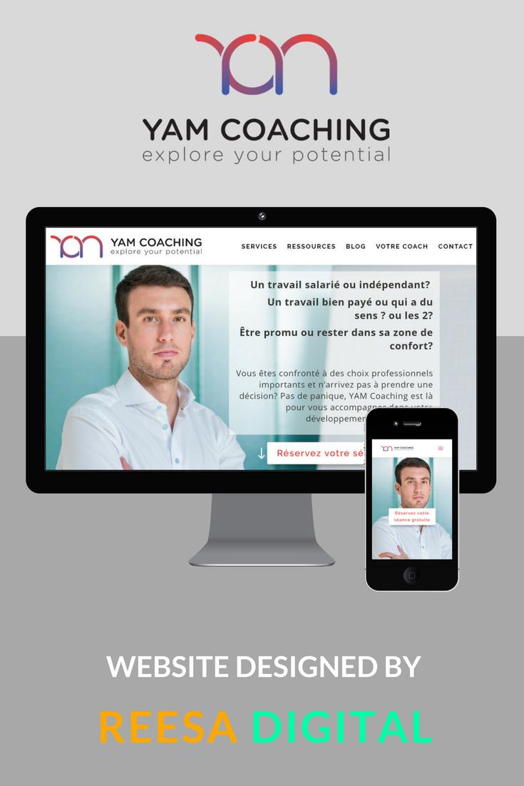 Website Design Portfolio: YAM Coaching by Yannick Morand
