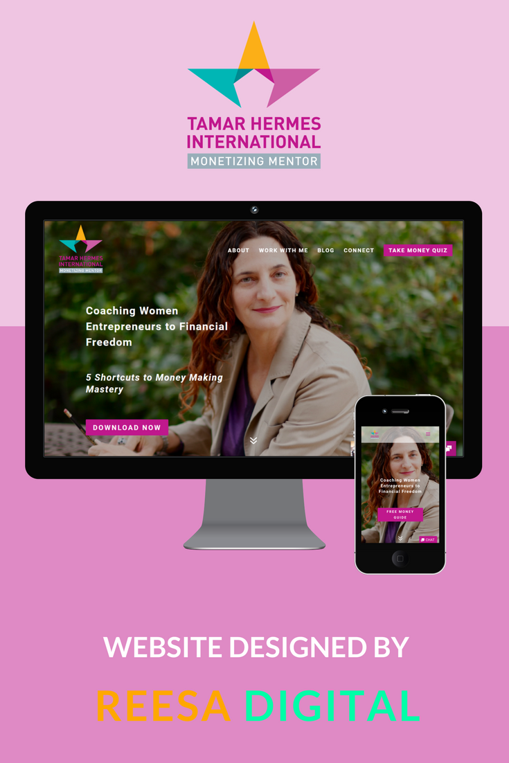 Website Design Portfolio: Tamar Hermes International - Business & Money Coach for Women Entrepreneurs