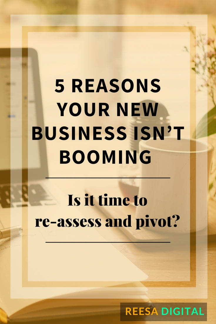 Business Tips: 5 Reasons Your New Business Isn't Booming - Is it time to re-assess and pivot?