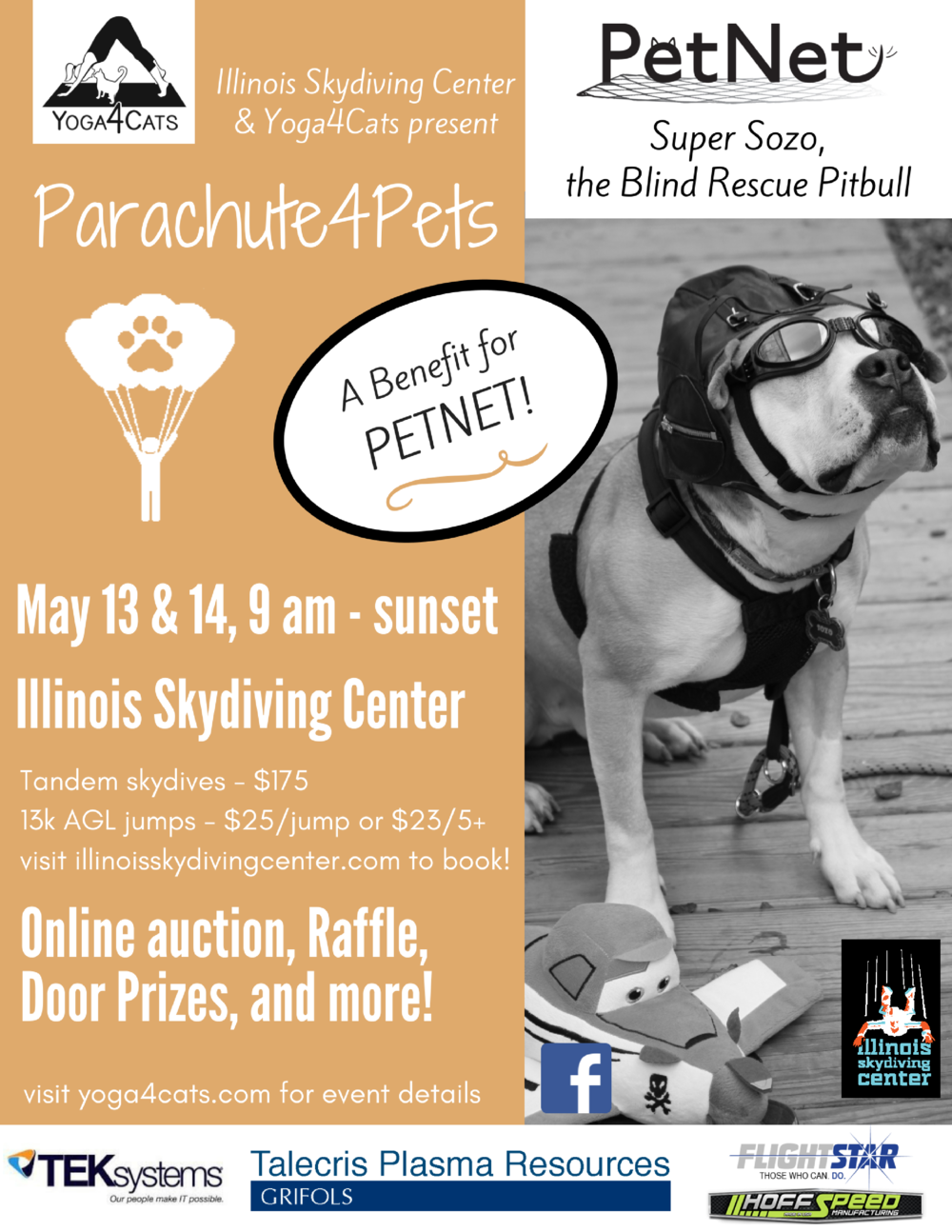 Parachute4Pets Champaign IL Yoga4Cats Illinois Skydiving Center PetNet parachute pets parachuteforpets parachute for pets parachute4pets Illinois Skydiving Center PetNet cat yoga