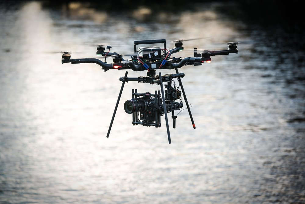 red epic drone filming