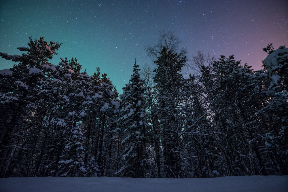 There's a lot of darkness during winter and even spring in the high latititude countries like Finland. Luckily the sky is usually doing something interesting to make up for it.