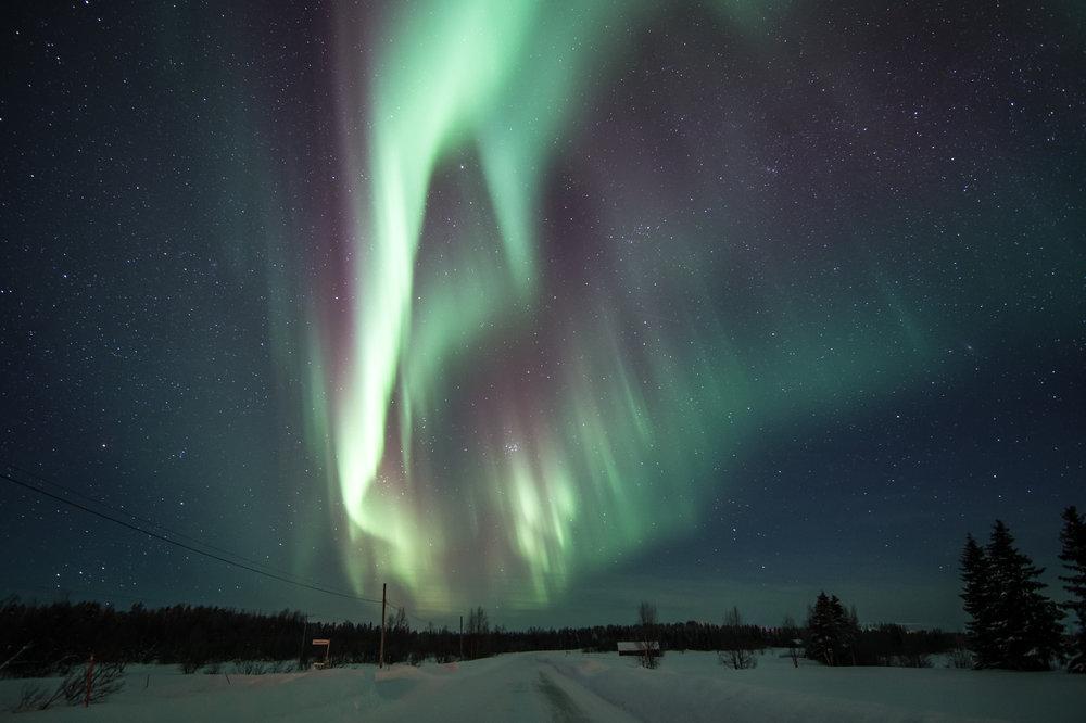 Northern lights in Köngäs