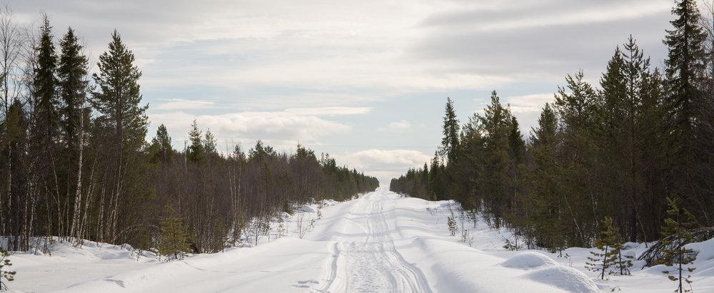 Roads in rural Lapland.