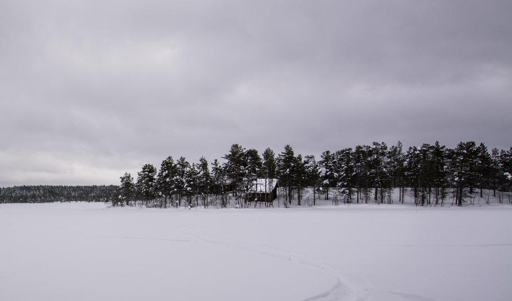 A house on the Ounasjärvi near Hetta.