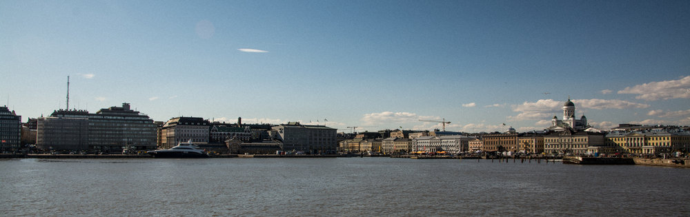 Helsinki viewed from the ferry to Suomenlinna