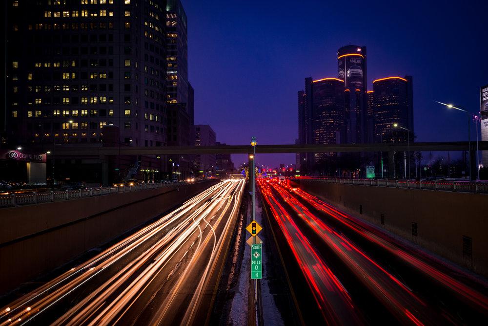 Detroit at Night