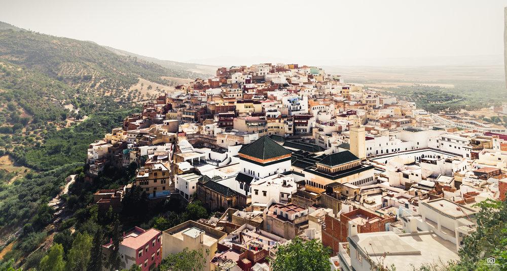 Moulay Idris vanaf het hoogste punt van de stad.